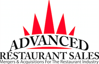 Advanced Restaurant Sales Logo with text on bottom reading Mergers and Acquisitions for the Restaurant Industry